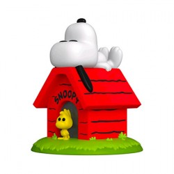 Figurine Pop Peanuts Snoopy on Doghouse Deluxe Funko Boutique Geneve Suisse