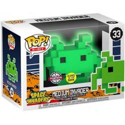 Figurine Pop Phosphorescent Space Invaders Medium Invader 8-Bit Edition Limitée Funko Boutique Geneve Suisse