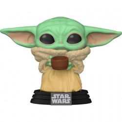 Figur Pop Star Wars The Mandalorian The Child with Cup (Baby Yoda) Funko Geneva Store Switzerland
