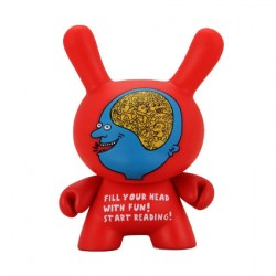 Figurine Duuny Start Reading par Keith Haring Kidrobot Boutique Geneve Suisse