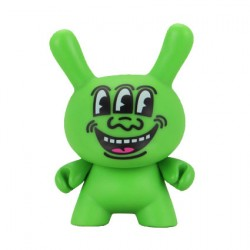 Figurine Duuny Green 3 Eyed Monster par Keith Haring Kidrobot Boutique Geneve Suisse