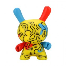 Figurine Duuny Blue Red and Yellow Break Dancing par Keith Haring Kidrobot Boutique Geneve Suisse