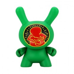 Figur Duuny Green Mother & Child by Keith Haring Kidrobot Geneva Store Switzerland