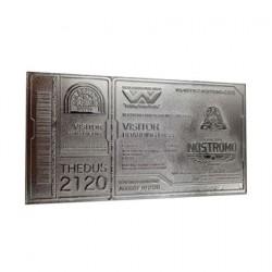 Figuren Alien Replik Nostromo Ticket (Versilbert) Limitierte Auflage FaNaTtiK Genf Shop Schweiz