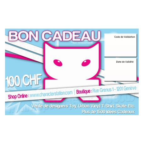Figur Voucher Gift : 100 CHF Geneva Store Switzerland