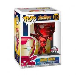 Figurine Pop Marvel Avengers Infinity War Iron Man Flying Rouge Chrome Edition Limitée Funko Boutique Geneve Suisse