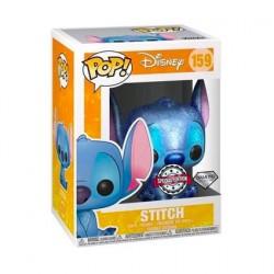 Figurine Pop Diamond Disney Stitch Seated Glitter Edition Limitée Funko Boutique Geneve Suisse