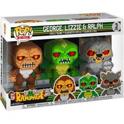Figurine Pop 8-bit Rampage 3-Pack George Lizzie Ralph Edition Limitée Funko Boutique Geneve Suisse