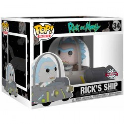 Figurine Pop Rides Rick et Morty Space Cruiser Edition Limitée Funko Boutique Geneve Suisse