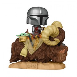 Figurine Pop Deluxe Star Wars The Mandalorian and the Child on Bantha Funko Boutique Geneve Suisse