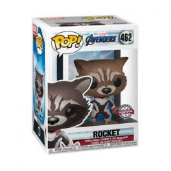 Figurine Pop Marvel Avengers Endgame Rocket in Team Suit Edition Limitée Funko Boutique Geneve Suisse