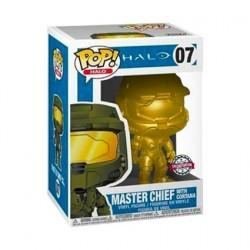 Figur Pop Metallic Halo Master Chief with Cortana Gold Limited Edition Funko Geneva Store Switzerland