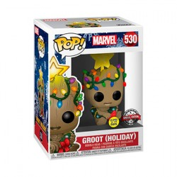 Figurine Pop Phosphorescent Guardians of the Galaxy Vol. 2 Groot Christmas Holiday Edition Limitée Funko Boutique Geneve Suisse