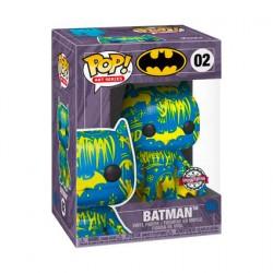 Figurine Pop Artist Series Batman Bleu et Jaune avec Boîte de Protection Acrylique Edition Limitée Funko Boutique Geneve Suisse