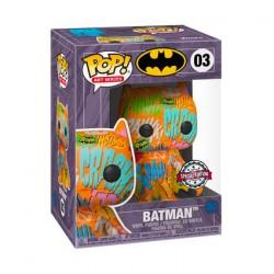 Figurine Pop Artist Series Batman Orange avec Boîte de Protection Acrylique Edition Limitée Funko Boutique Geneve Suisse