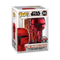 Figurine Pop Métallique Star Wars The Mandalorian Chrome Rouge Edition Limitée Funko Boutique Geneve Suisse