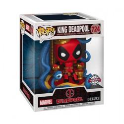 Figuren Pop Deluxe Metalisch Deadpool King Deadpool on Throne Limitierte Auflage Funko Genf Shop Schweiz