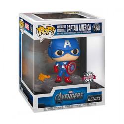Figurine Pop Deluxe Avengers Assemble Captain America Edition Limitée Funko Boutique Geneve Suisse