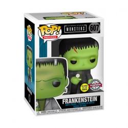 Figurine Pop Phosphorescent Universal Monsters Frankenstein with Flower Edition Limitée Funko Boutique Geneve Suisse