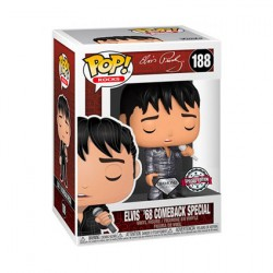 Figurine Pop Rocks Diamond Elvis 68 Comeback Edition Limitée Funko Boutique Geneve Suisse