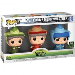 Figur Pop ECCC 2020 Sleeping Beauty Fauna Flora and Merryweather Fairies Limited Edition Funko Geneva Store Switzerland