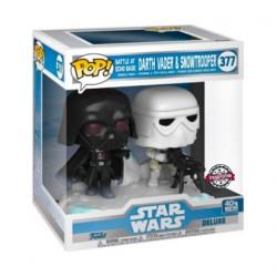 Figurine Pop Star Wars L'Empire Contre Attaque Darth Vader & Stormtrooper Battle at Echo Base Deluxe Edition Limitée Funko Bo...