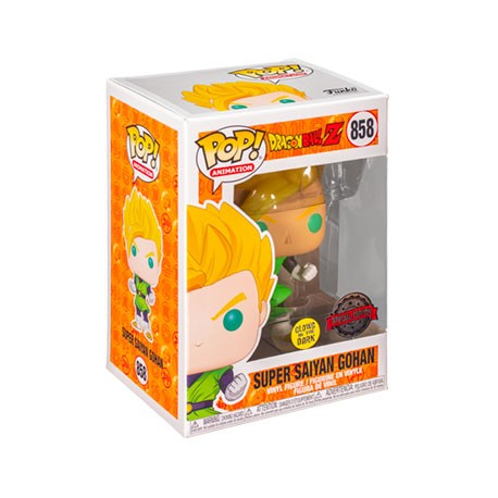 Figurine Pop Phosphorescent Dragon Ball Z Gohan Super Saiyan Edition Limitée Funko Boutique Geneve Suisse