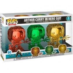 Figurine Pop Chrome DC Aquaman Arthur Curry en Costume de Héro 3 pack Edition Limité Boutique Geneve Suisse