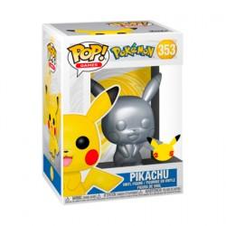 Figur Pop Silver Metallic Pokemon Pikachu 25th Anniversary Limited Edition Funko Geneva Store Switzerland