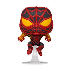 Figurine Pop Marvel Games Spider-Man Miles Morales S.T.R.I.K.E. Suit Funko Boutique Geneve Suisse