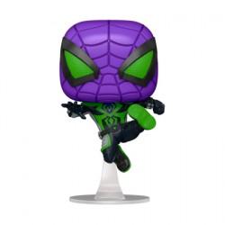 Figur Pop Marvel Games Spider-Man Miles Morales Purple Reign Suit Metallic Limited Edition Funko Geneva Store Switzerland