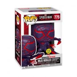Figurine BOÎTE ENDOMMAGÉE Pop Phosphorescent Marvel Games Spider-Man Miles Morales in Programmable Matter Suit Edition Limité...