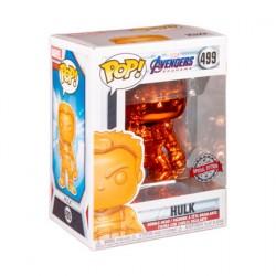 Figurine Pop Marvel Endgame Hulk avec Infinity Gauntlet Orange Chrome Edition Limitée Funko Boutique Geneve Suisse