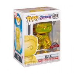 Figuren Pop Marvel Endgame Hulk mit Infinity Gauntlet Gelb Chrome Limitierte Auflage Funko Genf Shop Schweiz