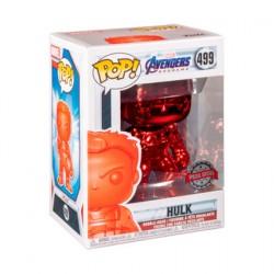 Figuren Pop Marvel Endgame Hulk mit Infinity Gauntlet Rot Chrome Limitierte Auflage Funko Genf Shop Schweiz