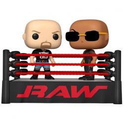 Figuren Pop WWE The Rock vs Stone Cold in Wrestling Ring Funko Genf Shop Schweiz