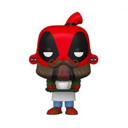 Figurine Pop Marvel Deadpool 30th Anniversaire Coffee Barista Deadpool Funko Boutique Geneve Suisse