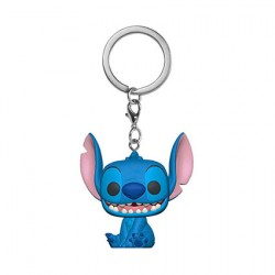 Figurine Pop Pocket Porte Clés Disney Lilo & Stitch Stitch Sourit Funko Boutique Geneve Suisse