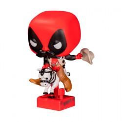 Figurine Pop Marvel Sheriff Deadpool Riding Horsey Edition Limitée Funko Boutique Geneve Suisse