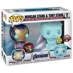 Figuren Pop Phosphoreszierend Marvel Avengers Morgan et Hologramm Tony Limitierte Auflage Funko Genf Shop Schweiz