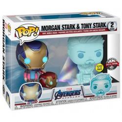 Figurine Pop Phosphorescent Marvel Avengers Morgan et Hologramme Tony Edition Limitée Funko Boutique Geneve Suisse