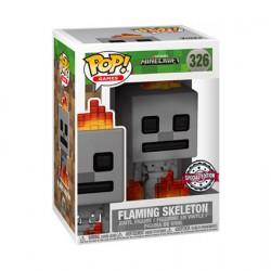 Figurine Pop Minecraft Skeleton with Fire Edition Limitée Funko Boutique Geneve Suisse
