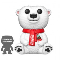 Figur Pop 25 cm Coca Cola Polar Bear Limited Edition Funko Geneva Store Switzerland