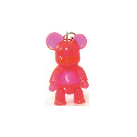 Figur Qee Mini Bear Clear Pink Toy2R Geneva Store Switzerland