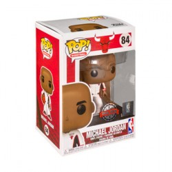 Figurine Pop NBA Basketball Michael Jordan Chicago Bulls White Warm-Up Suit Edition Limitée Funko Boutique Geneve Suisse