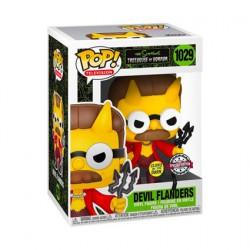 Figurine Pop Phosphorescent The Simpsons Devil Flanders Edition Limitée Funko Boutique Geneve Suisse