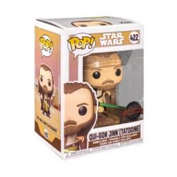 Figurine Pop Star Wars Across The Galaxy Qui-Gon Jinn Tatooine Edition Limitée Funko Boutique Geneve Suisse