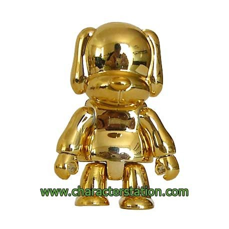 Figur Toy2R Qee Dog Gold without packaging Toy2R Geneva Store Switzerland
