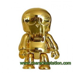 Figur Toy2R Qee Toyer Gold without packaging Toy2R Geneva Store Switzerland
