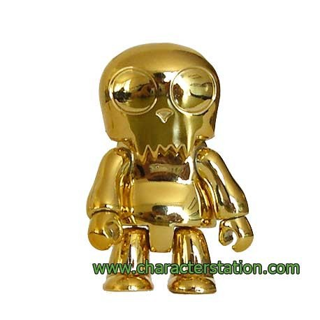 Figurine Toy2R Qee Toyer Gold sans emballage Toy2R Boutique Geneve Suisse